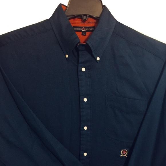 30ff2532 Tommy Hilfiger Shirts   Mens Blue Long Sleeve Shirt   Poshmark